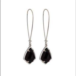 Kendra Scott Carinne Drop Earrings (Black)